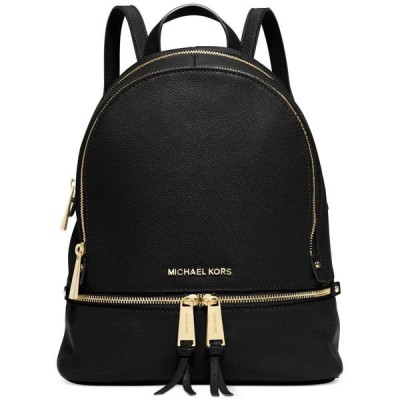 マイケル コース Michael Kors ユニセックス バックパック・リュック バッグ Rhea Zip Small Pebble Leather Backpack Black/Gold