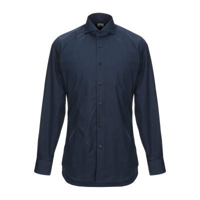 XACUS シャツ ダークブルー 38 コットン 100% シャツ