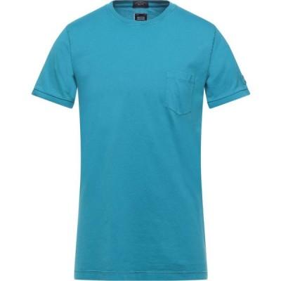 ポール シャーク PAUL & SHARK メンズ Tシャツ トップス T-Shirt Azure