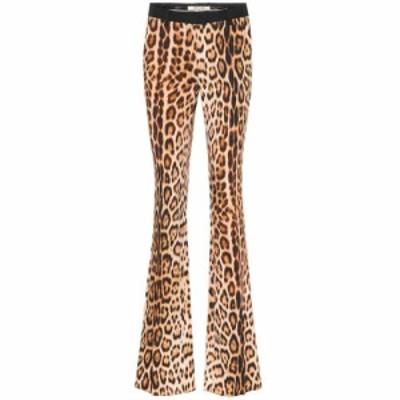 ロベルト カヴァリ Roberto Cavalli レディース ボトムス・パンツ Leopard-print bootcut pants Tan/Black