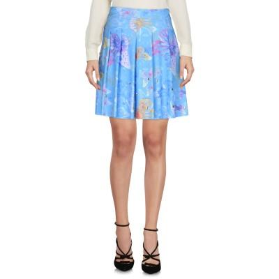 LA FILLE des FLEURS ひざ丈スカート アジュールブルー S ナイロン 80% / ポリウレタン 20% ひざ丈スカート
