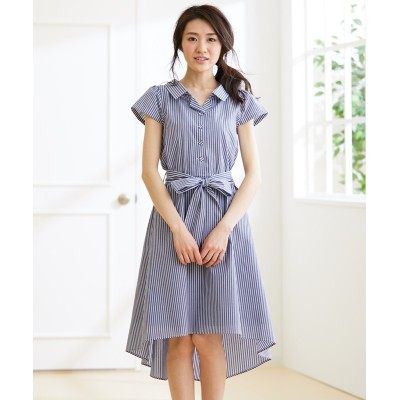 バックリボンフレアワンピース(共布リボン付) (ワンピース)Dress