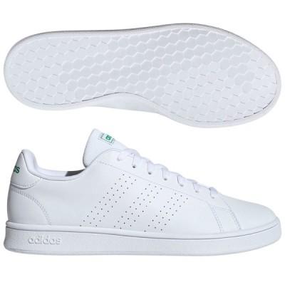 アディダス メンズファッション スニーカー ローカット ADVANCOURT BASE ランニングホワイト×ランニングホワイト×グリーン adidas EE7690