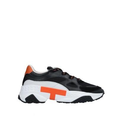 トッズ TOD'S スニーカー&テニスシューズ(ローカット) ブラック 10.5 革 / 紡績繊維 スニーカー&テニスシューズ(ローカット)