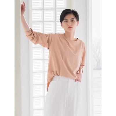 ラ エフ la f 【WEB別注】ラウンドカットTシャツ (オレンジ)
