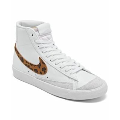 ナイキ レディース スニーカー シューズ Women's Blazer Mid 77 SE Animal Casual Sneakers from Finish Line White