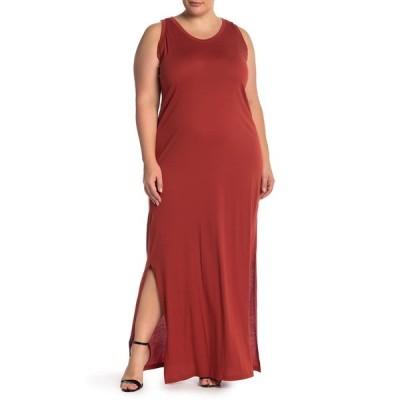 スジーナ レディース ワンピース トップス Cinch Back Maxi Dress RED OCHRE