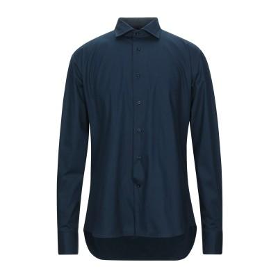 レ コパン LES COPAINS シャツ ダークブルー 42 コットン 97% / ポリウレタン 3% シャツ