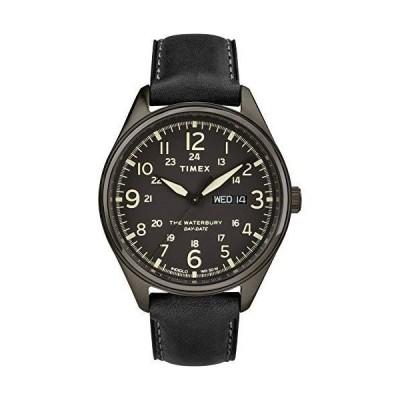 TIMEX ブラックレザーウォッチ -TW2R89100【並行輸入品】