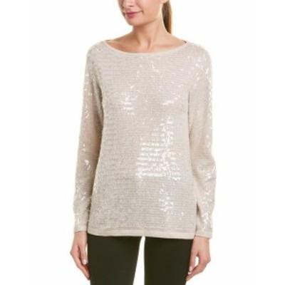 Sequin  ファッション トップス Reiss Gene Sequin Wool-Blend Sweater Xs Brown