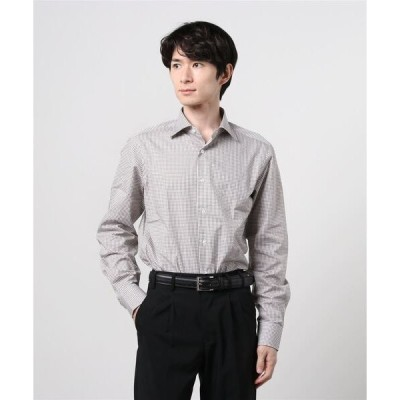 シャツ ブラウス BEAMS F / グラフチェック ワイドカラーシャツ
