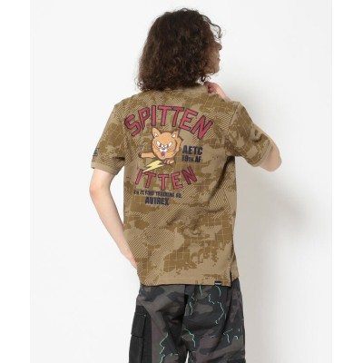 (AVIREX/アヴィレックス)刺繍 ポロシャツ キットゥン /EMBROIDERED POLO KITTEN/メンズ TAN/CAMO