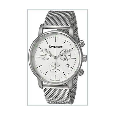 Wenger Men's Urban Classic Swiss-Quartz Stainless-Steel Strap, Silver, 19.7 Casual Watch (Model: 01.1743.106)並行輸入品