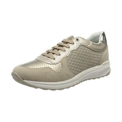 Geox Women's Low-Top Sneakers, Beige Lt Taupe C6738, 6 UK【並行輸入品】