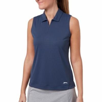 スラセンジャー Slazenger レディース ゴルフ ノースリーブ ポロシャツ トップス Tech Sleeveless Golf Polo Grey Slate