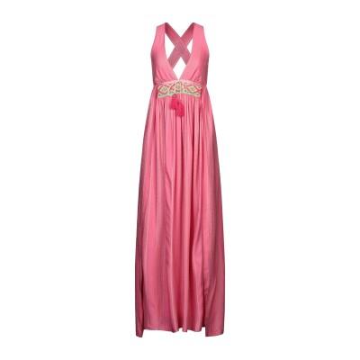 AMOË ロングワンピース&ドレス ピンク S コットン 70% / シルク 30% ロングワンピース&ドレス