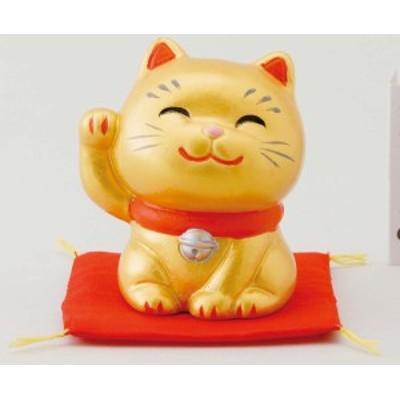 幸せ招き猫 特小 金(右手上げ)