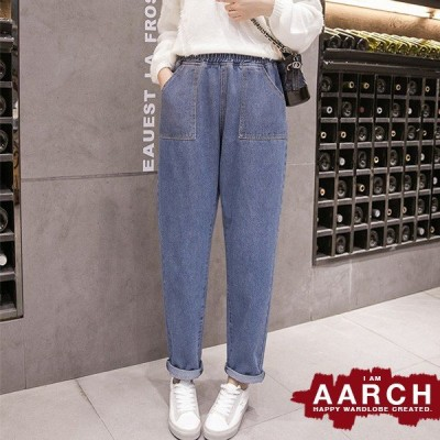 大きいサイズ デニム デニムパンツ レディース ファッション ぽっちゃり おおきいサイズ あり ウエストゴム マムフィット S M L LL 3L 4L 5L 6L 秋冬