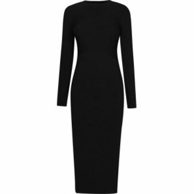 アルマーニ EMPORIO ARMANI レディース ワンピース ミドル丈 ワンピース・ドレス Midi Dress Black