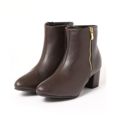 Mafmof / Realta(レアルタ) 飾りジップ付き ショートブーツ WOMEN シューズ > ブーツ