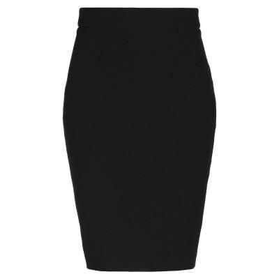 LES BOURDELLES DES GARÇONS ひざ丈スカート ブラック 44 ポリエステル 88% / ポリウレタン 12% ひざ丈スカート