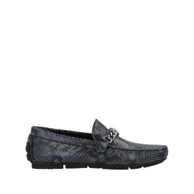 ROBERTO CAVALLI モカシン ファッション  メンズファッション  メンズシューズ、紳士靴  モカシン 鉛色