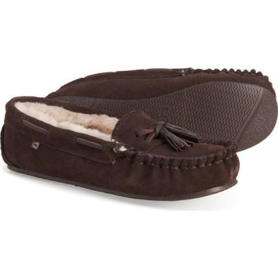 ラモフットウェアー LAMO Footwear レディース スリッポン・フラット シューズ・靴 Dawn Moccasins - Suede Chocolate