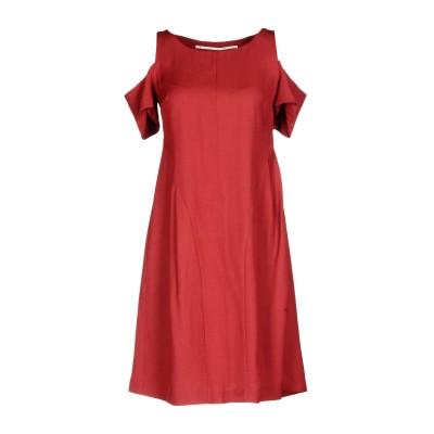 MAISON LAVINIATURRA ミニワンピース&ドレス ボルドー 40 100% 麻 ミニワンピース&ドレス