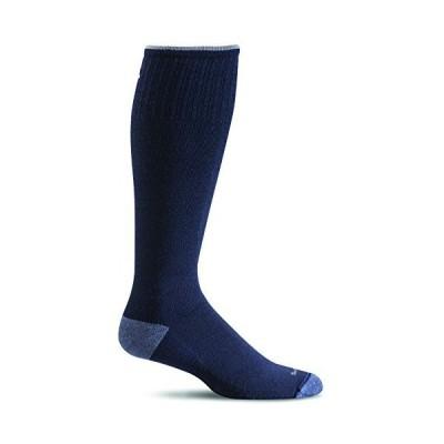 海外取寄品--Sockwell Men's Elevation Firm Graduated Compression Sock, Navy - M/L