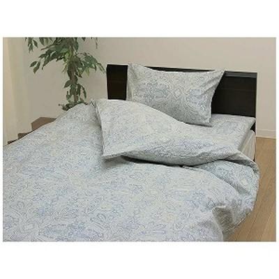 「まくらカバー」リュクス 標準サイズ(綿100%/43×63cm/サックス)「日本製」 シ-ツ、カバ-