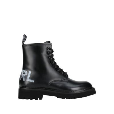 カールラガーフェルド KARL LAGERFELD ショートブーツ ブラック 41 牛革 100% ショートブーツ