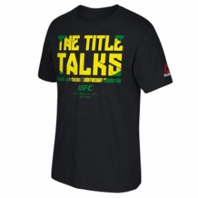 Reebok リーボック スポーツ用品  Reebok Rafael dos Anjos UFC Black Fight Night Orlando Champion T-Shirt