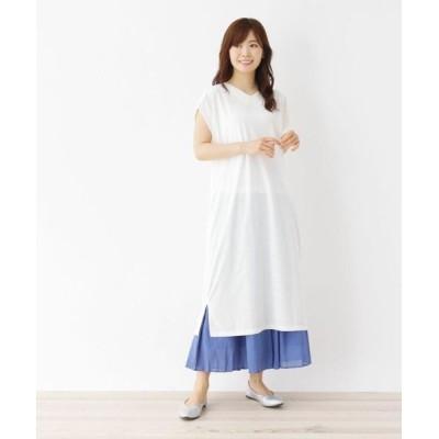SHOO・LA・RUE/シューラルー 【M-L】ポリスムースコクーンワンピース オフホワイト(003) 03(L)