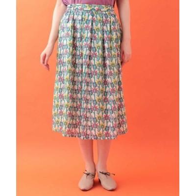 Jocomomola/ホコモモラ びっくりフラワープリントスカート アイボリー 40
