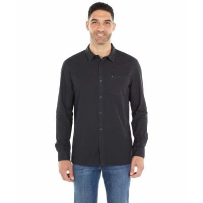 クイックシルバー シャツ トップス メンズ Taxer Long Sleeve Black