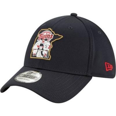 ニューエラ メンズ 帽子 アクセサリー New Era Men's Minnesota Twins Navy 39Thirty Clubhouse Stretch Fit Hat