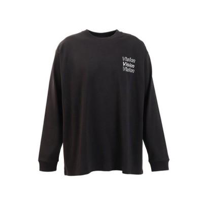 ヴィジョン(VISION) Tシャツ メンズ 長袖 ボタニカルフォトプリント 0323132-01BLK (メンズ)