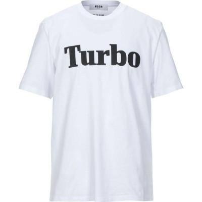 エムエスジーエム MSGM メンズ Tシャツ トップス t-shirt White