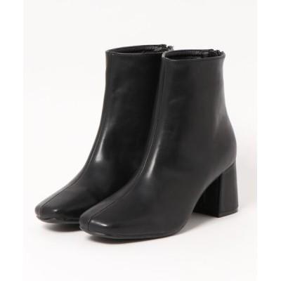 CHILLE / スクエアトゥシンプルブーツ WOMEN シューズ > ブーツ