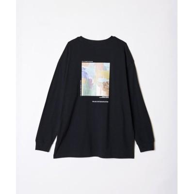 【レディアゼル】 バックアートフォトプリントロングスリーブTシャツ レディース ブラック F REDYAZEL