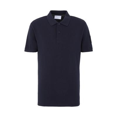 YOOX - CALVIN KLEIN JEANS ポロシャツ ダークブルー S コットン 100% ポロシャツ