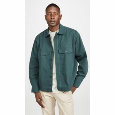 メゾン キツネ Maison Kitsune メンズ シャツ トップス Long Sleeve Hidden Placket Shirt Forest Green
