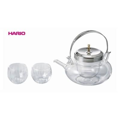 ■ハリオ HARIO 丸地炉利・グラスセット IDXG-8004-MSV  冷酒器 お酒グッズ 氷入れ・ピック  ギフト プレゼント  ちろり