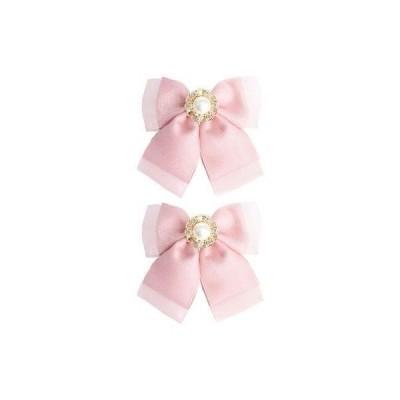 ロジータ ROJITA オーガンジーリボンヘアクリップSET (ピンク)