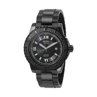 Gevril Men's Seacloud Automatic Self Winder Watch with Stainless Steel Strap, Black, 22 (Model: 3122B) 並行輸入品