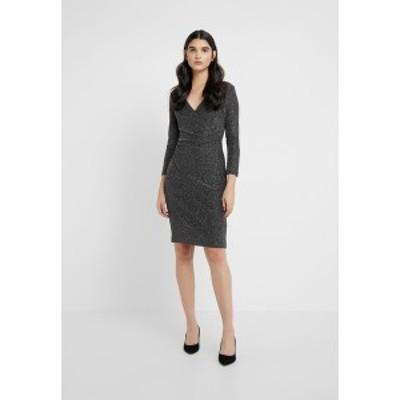 ラルフローレン レディース ワンピース トップス MINI METALLIC - Shift dress - black/silver black/silver