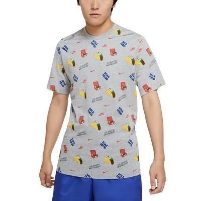 ナイキ Tシャツ トップス メンズ Men's Taco-Print T-Shirt Dark Grey Heather