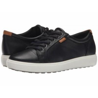 ECCO エコー レディース 女性用 シューズ 靴 スニーカー 運動靴 Soft 7 Sneaker Black/Black【送料無料】