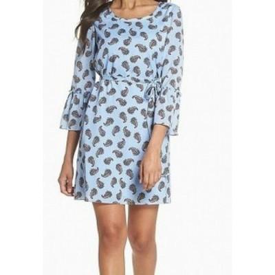 KOBI HALPERIN コビハルパーリン ファッション ドレス Kobi Halperin Womens Dress Blue Medium M Sheath Paisley Print Chiffon
