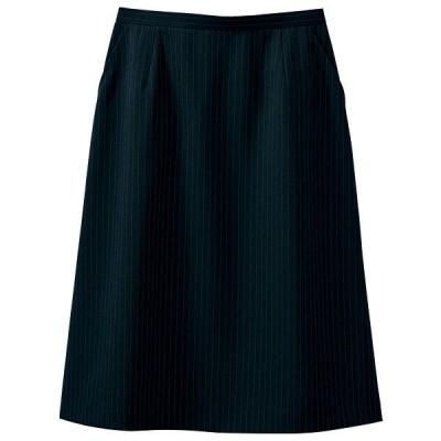 セロリー(Selery) スカート ブラックネイビー 13号 S-16401 1着(直送品)